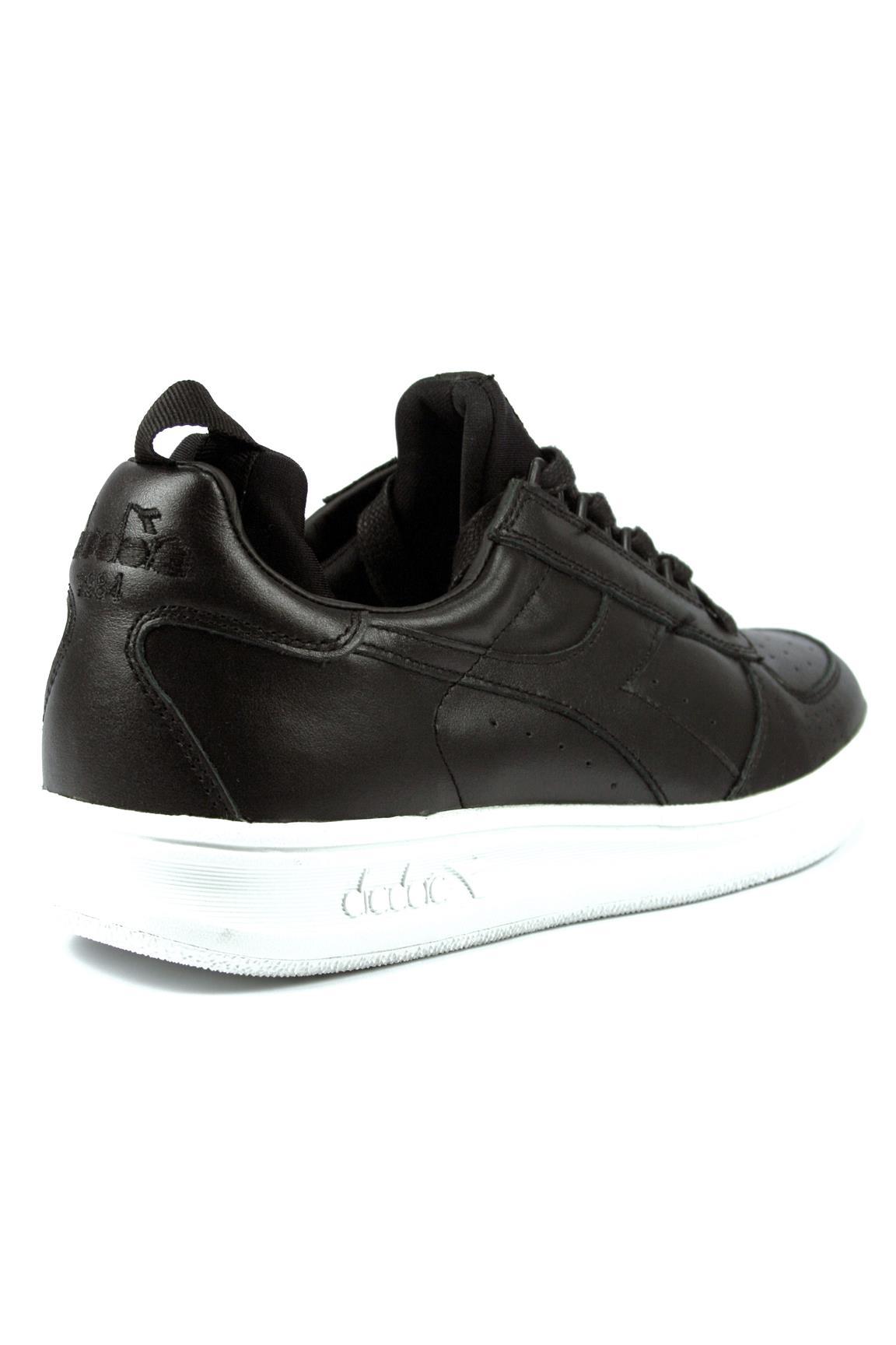 Diadora Heritage B Elite Socks Sneakers Scarpa Uomo in Pelle Nera
