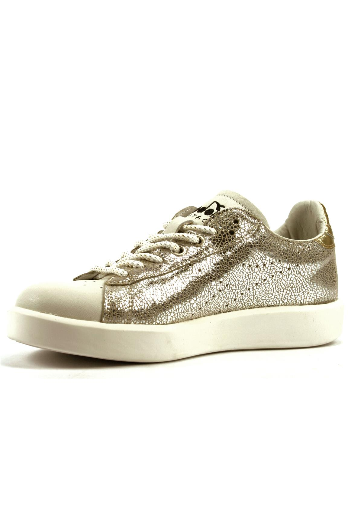 Game Silver Laminated Leather DIADORA heritage Sneakers
