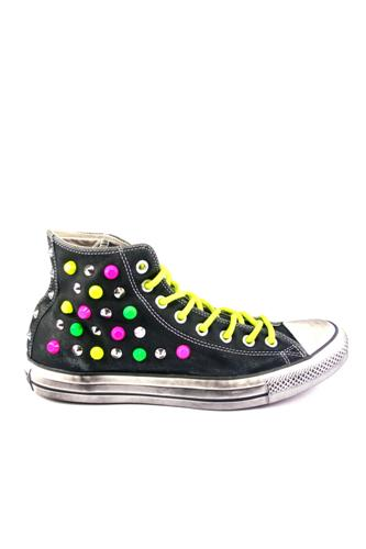 hi leather neon ltd black multicolor studs converse. Black Bedroom Furniture Sets. Home Design Ideas