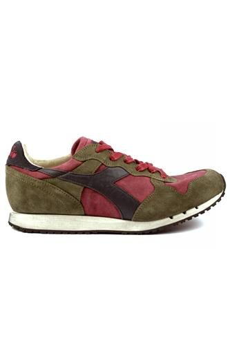 Trident S SW Tibetan Red Burnt Olive Green DIADORA heritage Sneakers 125b5e25d9a
