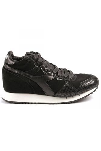 Trident W Mid Reptile Black DIADORA heritage Sneakers 73df3148d67