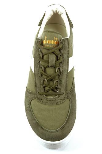 B.Elite C S Burnt Olive White Canvas Suede DIADORA heritage Sneakers 1b8b9891b9