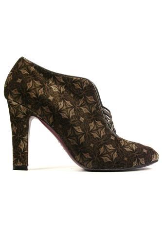 Dahlia Brown Hazelnut Chic Velvet MINA BUENOS AIRES High Heels