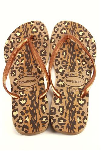 84d5711d1275 Havaianas Slim Animals Rose Gold Dark Copper HAVAIANAS Flat Sandals