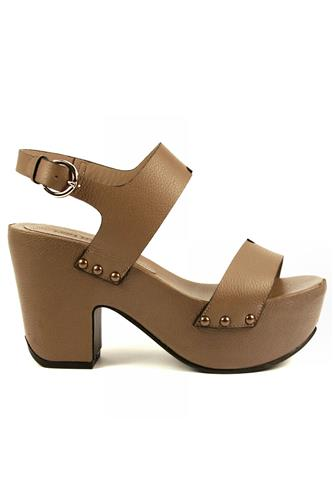 uk availability 48da0 797f6 Rodi Turtledove Leather Studs LENA MILOS Wedge